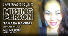 Please help us spread the word about Tamara Kayseas out of Saskatoon, Saskatchewan by sharing this report. Missing Persons, Words, Horse