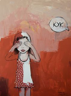 """Peek-a-boo"" 2012, acrylic on canvas. Artist Vane Kosturanov."