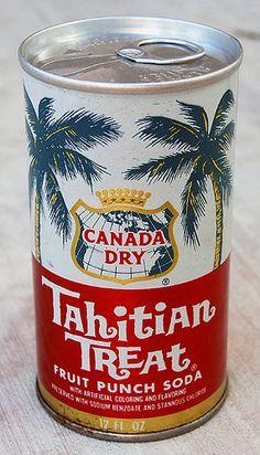 Canada Dry Tahitian Treat Soda, 1970's