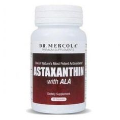 Astaxanthin with ALA, A powerful antioxdiant with anti-aging properties, against wrinkles, dry skin, age spot and more.