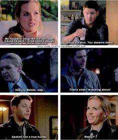 11x07 Plush, 9x13, 10x08 [gifset] - Dean complimenting Donna - Supernatural