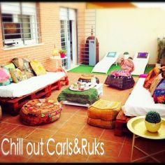 chill out casero, pallets y cojines