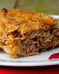 gratin of cabbage Healthy Cake, Healthy Drinks, Healthy Recipes, Flan, Salad Dishes, Weight Watchers Meals, Food Videos, Great Recipes, Delish