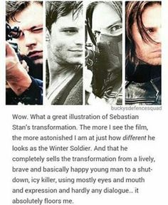 The transformation is really incredible, sometimes I can't recognise Seb as the Winter Soldier - especially with the mask on!