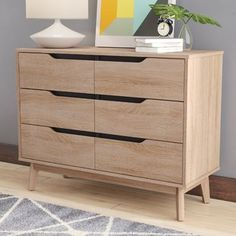 Price Check Ezra Modern 6 Drawer Standard Dresser/Chest By Langley Street Diy Furniture Easy, Refurbished Furniture, Plywood Furniture, Shabby Chic Furniture, Plywood Cabinets, Furniture Assembly, Cheap Furniture, Online Furniture, Modern Chest Of Drawers