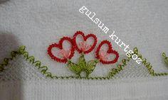 İğne oyası kalpli havlu kenarı yapılışı #crochet #örgü #needle #iğneoyası…