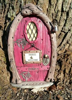Fairy Door Personalized 1037 gnome hobbit by FairyDoorsByTommie