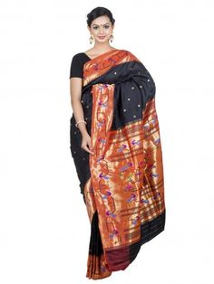 Party wear black #paithani #saree.
