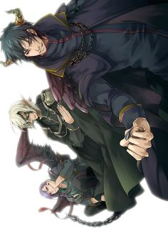 The Devil is a Part-Timer aka {Hataraku Maou-Sama} ~~ Some of the guys in their original, truly AWESOME forms