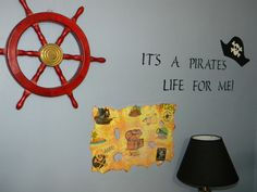 pirate wall Pirate Maps, Pirate Theme, Boys Pirate Bedroom, Navy Bedrooms, Pirate Life, Pottery Barn, Pirates, Kids Room, Bedroom Decor