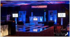 A Glyde Productions booth design featuring design work by Danielle of Magnolia Bludebird Design & Events Dj Booth, Booth Design, Bar Mitzvah, Blue Bird, Magnolia, Event Planning, Wedding Events, Party, Dance Floors