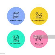 Vector Design, Vector Icons, Stock Market, Finance, Investing, Simple, Illustration, Modern, Desktop