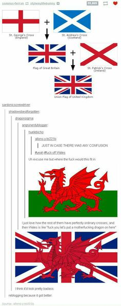 I'm German but I must say that the Welsh are amazingly unique. I wonder when Britain will take that too.