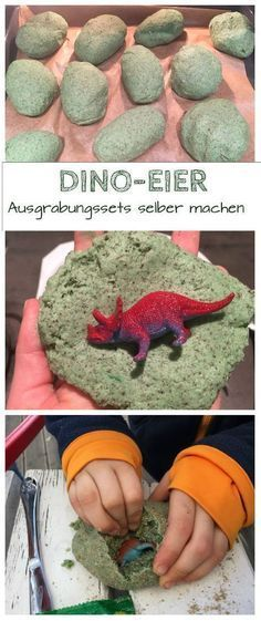 Dino-Ei zum Ausgraben selber machen Making dino eggs yourself as an excavation set is not difficult at all. I will show you how you can make your own dinosaur eggs for your children's dinosaur birthday or just as an activity idea: www. Dinosaur Eggs, Dinosaur Crafts, Dinosaur Games, Diy For Kids, Crafts For Kids, Make Your Own, Make It Yourself, Diy Bebe, Dinosaur Birthday Party