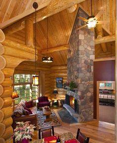 Jasper resort cabine cheminée