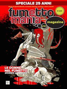 Copertina definitiva del n. 21 del magazine Fumettomania. Art cover by Lelio Bonaccorso