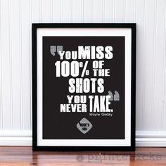 Hockey Poster- Hockey Quote Print - Hockey NHL Typography Poster Print - 8 X 10 via Etsy.