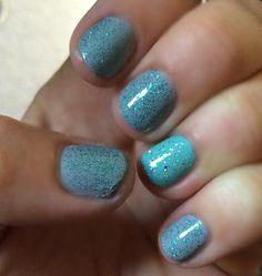 Robins egg blue nails real sparkle glitter nail art nail design