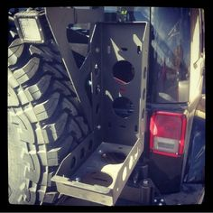 Jerry can mount Overland Gear, Welding And Fabrication, Truck Mods, Grand Vitara, Jerry Can, Jeep Accessories, Can Holders, Fj Cruiser, Jeep Stuff