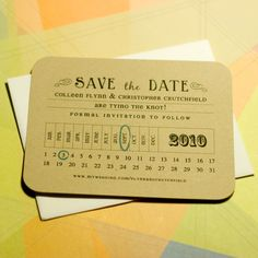 Simple Save the Date, more than likely i will use the ideal for my project life/395/52.... as a date card