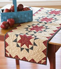 Oh, Glory! | AllPeopleQuilt.com. I like the understated look of this table runner for my patriotic version.