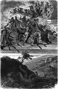 """""""Wodans wilde Jagd"""" von Friedrich Wilhelm Heine 1882"""