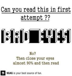 Can you read this in first attempt?
