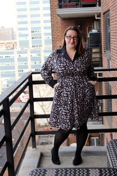 A luxe silk dress with just the right amount of a vintage vibe to it from Cabiria, the first plus size line to ever show at New York Fashion Week. And it has pockets!
