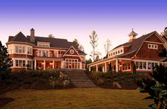 Shingle Style House - traditional - exterior - detroit - VanBrouck & Associates, Inc. Residential Architect, Architect House, Architect Design, Custom Home Builders, Custom Homes, Nantucket Style Homes, Detroit, Architectural Shingles, Architectural Styles