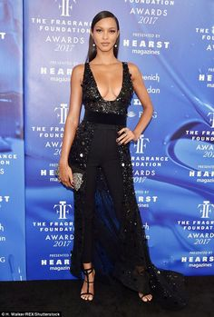 Lais Ribeiro dons cleavage-baring look to Fragrance Awards  dailymail Стиль  Знаменитостей a3aad3352d83c