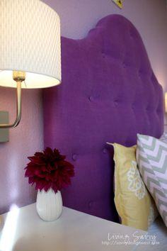 Little Girls Room Upholstered headboard