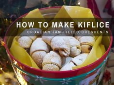 Croatian recipes: Kiflice bring back fond memories from my childhood. Mama would make them & my brother, and I would hoover them down instantly. European Dishes, Eastern European Recipes, European Cuisine, No Bake Desserts, Dessert Recipes, Cookie Recipes, Croatian Cuisine, Jam Cookies, Biscuit Recipe