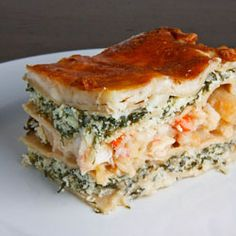 Seafood Lasagna from   http://www.closetcooking.com/2009/05/seafood-lasagna.html