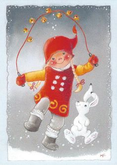 Kaarina Toivanen, Christmas card 10 x Finland Illustration Noel, Christmas Illustration, Illustrations, Christmas Drawing, Christmas Art, Vintage Christmas, Christmas Ornaments, Christmas Graphics, Christmas Clipart