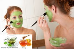 Green tea face exfoliating scrub
