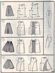 scans of pattern making and the result, lots of skirts and dresses and these pants