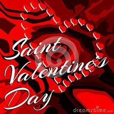 An idea that can be used in all Saint Valentine's day greeting cards.