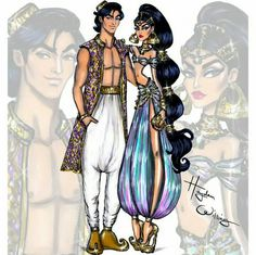 'Disney Darling Couples' by Hayden Williams: Jasmine and Aladdin