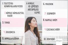 10 lépéses koreai arcápolás, amit te is követni tudsz! Érthetően+Egyszerűen ⋆
