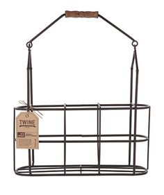 Features:  -Material: Metal and wood.  -Fits 3 standard bottles.  Product Type: -Wine bottle rack.  Finish: -Black and brown.  Hardware Finish: -Black.  Material: -Metal/Wood.  Wine Bottle Capacity: -