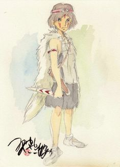 Living Lines Library: もののけ姫 / Princess Mononoke (1997) - Character Design