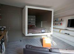 Une chambre suspendue dans 28 m2