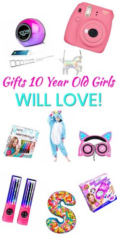 Gifts 10 Year Old Girls! The best gifts for a 10 Year Old girl. Great for birthdays, Christmas, Easter or just because. Cool gift ideas that any 10 Year Old girl will love. Makeup, electronics, toys, gadgets and more. Find trendy gift ideas for that special (tween) 10 Year Old girl in your life now!