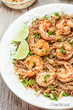This recipe for Soba Noodles with Grilled Shrimp and Cilantro is bright and flavorful. Garlicky, tender grilled shrimp is sublime. Healthy and delicious.