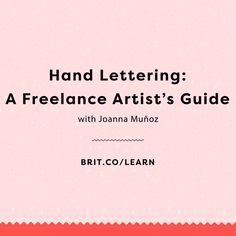 In this Brit + Co online class, Hand Lettering: A Freelance Artist's Guide, you'll learn how to take your lettering skills to a side hustle. You'll start by learning methods and techniques for sketching and refining a styled lettering layout on paper. Then, you'll learn how to digitize your lettering art using vectors in Adobe Illustrator. Finally, you'll enhance your digital lettering in Adobe Photoshop by learning how to import and apply textures and effects to really make your design pop.