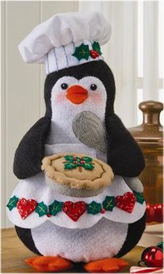 Adults Christmas Craft Kits Sewing Kit to Make a Christmas Penguin Decoration