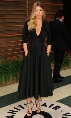 Amazing Doutzen Kroes wearing our Prospere evening dress at Vanity Fair Oscar Party #Oscars2014