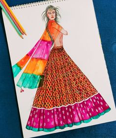 Fashion Design Sketchbook, Fashion Design Drawings, Fashion Sketches, Dress Design Drawing, Dress Drawing, Fashion Illustration Dresses, Fashion Illustrations, Flat Drawings, Draping