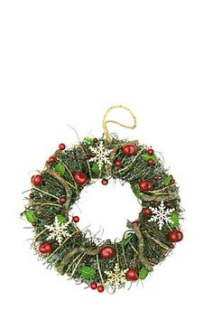 "This wreath is made from wicker, berries with added snowflakes to add a bit of glamour. Hang it on your front door or use as a candle ring to display on your table.<div class=""pdpDescContent""><BR /><b class=""pdpDesc"">Dimensions:</b><BR />L40xW40xH4 cm</div>"
