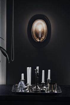 Pre-christmas Modern Interior, Interior Design, Pre Christmas, Dark Interiors, Objects, Candles, Crafty, Black And White, Inspiration